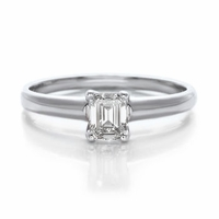 Emerald Cut Diamond Solitaire .31ct