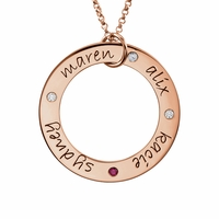 Engravable Posh Mommy Loop Necklace - Customizable