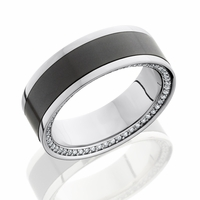 Zeus Platinum Diamond and ELYSIUM Eternity Wedding Band by Elysium