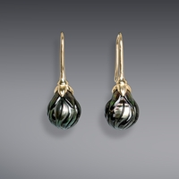Galatea Carved Tahitian Pearls with Flower Pedal Style