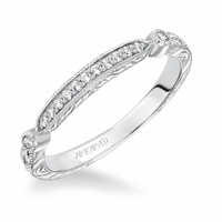 GEORGINA ArtCarved Diamond Band