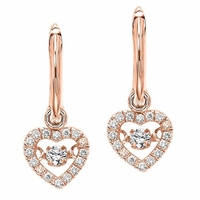 Heart Rose Gold Diamond Rhythm of Love Earrings