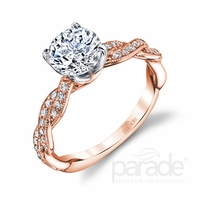 Hemera Bridal Rose Gold Twist Engagement Ring