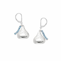 Hershey's Kiss Sterling Silver Dangle Earrings