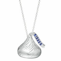 Hershey's Kiss Sterling Silver Necklace with Diamond