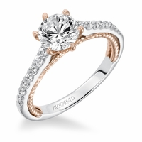 ILENA ArtCarved Diamond Engagement Ring