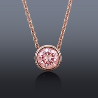 Lab Grown .25ct Pink Diamond Rose Gold Necklace