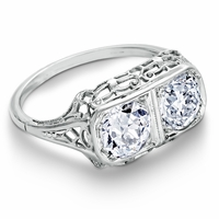 Evelyn - Vintage Old Mine Cut Diamond Ring - 1.43ctw