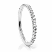 Ladies 14K White Gold & Diamond Band by belloria