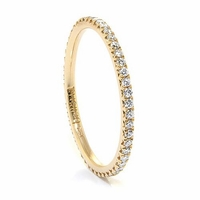 Ladies 14K Yellow Gold & Diamond Eternity Stackable Band