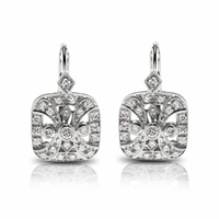 18K WG & Diamond Vintage Styled Earrings