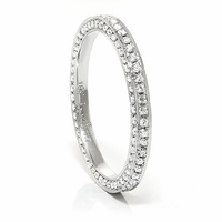 Ladies 18K White Gold & Diamond Eternity Band by Belloria