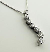 Ladies 3/4ctw Diamond Journey Necklace