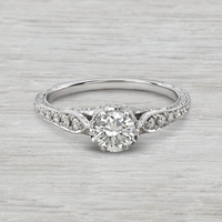 Ladies .77ctw Vintage Style Engagement Ring