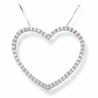 Ladies Diamond Heart Necklace