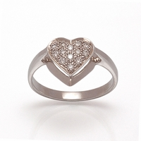 Ladies Diamond Heart Ring