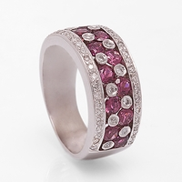 Ladies Diamond & Ruby Band