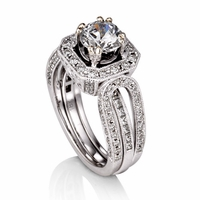 Ladies Diamond Semi-Mount Ring