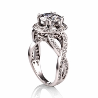 Ladies Diamond Semi-Mount Infinity Engagement Ring