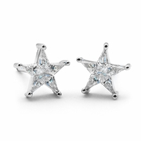 Ladies Diamond Star Earrings  - .60ctw