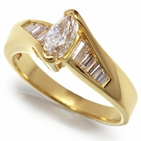 Ladies Marquise Diamond Ring