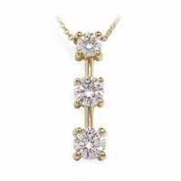 Ladies Three Graduated Diamond Necklace