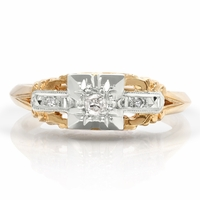 Ladies Vintage Diamond Engagement/Promise Ring