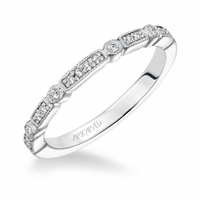 MARGUERITE ArtCarved Diamond Band