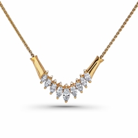 Marquise Diamond Necklace, 1.58ctw