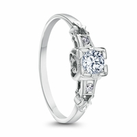 Maureen - Vintage Platinum & Diamond Engagement Ring