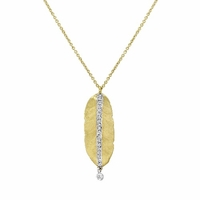Meira T Gold & Diamond Leaf Necklace