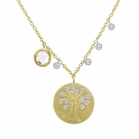 Meira T Petite Gold & Diamond Tree Necklace