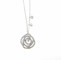 Meira T Rose Design Necklace
