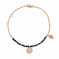 Meira T Rose Gold Bracelet With Black Diamonds