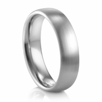 Mens 6mm Domed Satin Band