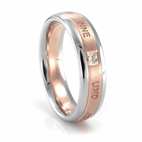 NEW BEGINNING Rose Gold, Palladium, and Diamond Ring