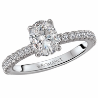 Oval Semi-Mount Engagement Ring