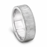 Palladium Cross Hatch Wedding Band by J.R. YATES