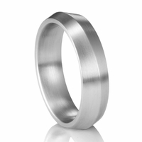 Palladium Knife Edge Ring