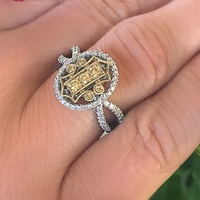Parade Yellow Diamond Scroll Ring