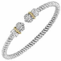 Petite Bracelet by Alwand Vahan, 3mm, Sterling and 14K Yellow Gold