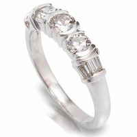 Platinum Diamond Anniversary Band