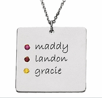 Posh Mommy Engravable Square Pendant - Customizable