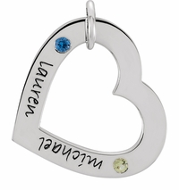 Posh Mommy Small Engravable Heart Pendant - Customizable