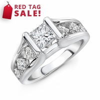 Princess Cut Engagement Ring - 1.80ctw