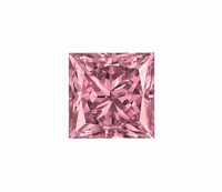 Pure Grown Diamond - 1.05ct Princess Cut Fancy Intense Pink