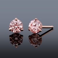 Pure Grown Diamond .47ctw Pink Diamond Earrings