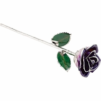 Purple Platinum Dipped Rose
