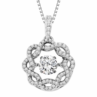Rhythm of Love 14K White Gold & Diamond Necklace