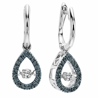 Rhythm of Love Blue Diamond Earrings